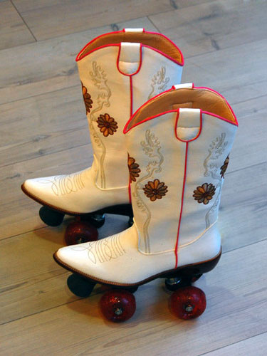 Cowboy-boots-rollerskates